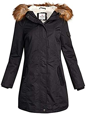 Urban Republic Women's Winter Coat - Heavyweight Sherpa-Lined Expedition Parka Jacket