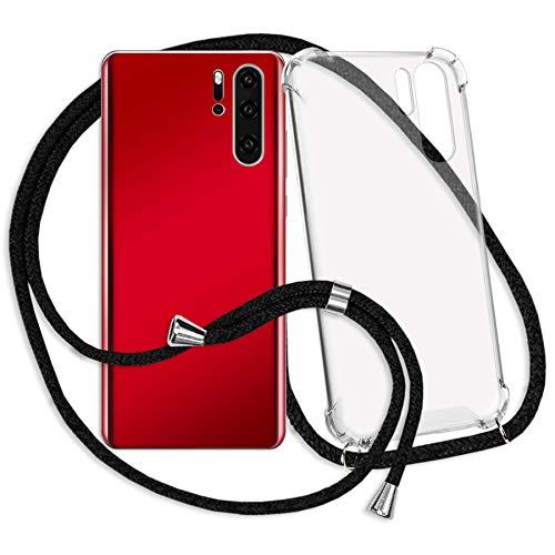 mtb more energy® Handykette kompatibel mit Sony Xperia XA1 Ultra (G3221, G3223 / 6.0'') - schwarz - Smartphone Hülle zum Umhängen - Anti Shock Strong TPU Hülle
