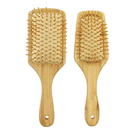 Miracle Brush Human Hair Brushes for Sensitive Scalp, Gentle Detangling, Shine, Volumizing, Nylon Boar Bristle, Best Paddle Brush for Women(Size:Square)