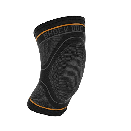Knee Compression Sleeve: Shock Doctor's Knee Support Sleeve - Relieves Arthritis Pain, Tendonitis, and Patella Alignment Injuries for Men & Women - Includes 1 Sleeve (1 unit), MEDIUM, w/ Gel Buttress (Moderate Support)