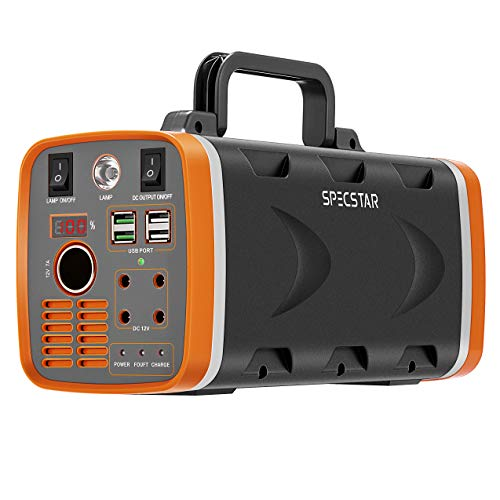 SPECSTAR 500W 78000mAh 288WH Portable Power Station with LED Light, Battery Generator with AC DC USB Outlets and Solar Charging Interface for Emergencies Outdoors, Solar Panel Not Included