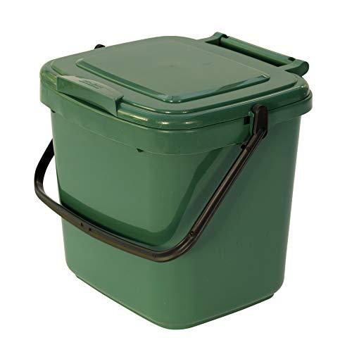 All-Green Küchenkomposteimer mit Kompostieranleitung – Plastik, 7 Liter, Grün