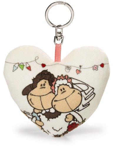 NICI Cœur Imprimé avec Couple, en Peluche et Musique Puce