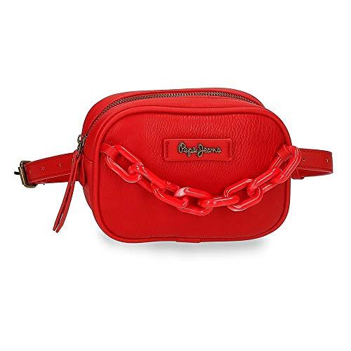 Pepe Jeans Chain Riñonera Rojo 28x12x6 cms Piel sintética