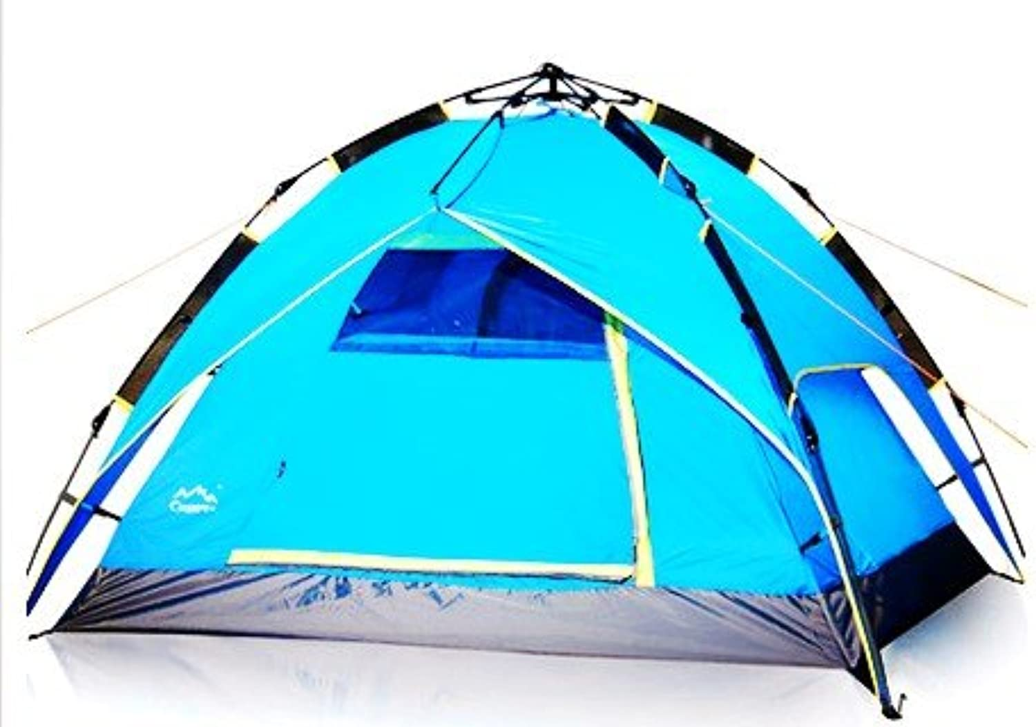 Youxd Bed Tent,1-2 Person Pop-up Small Tent Extended Easy Ventilation Moisture-Proof Rainproof Christmas Party Beach Outdoor Equipment Metal (color   bluee)