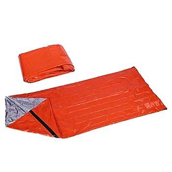 Delaman Sac de Couchage d'urgence - Sac de Couchage Survival Ultralight Traitement de Protection Contre Le Froid Ultra Froid (UnitCount : 5 Units)