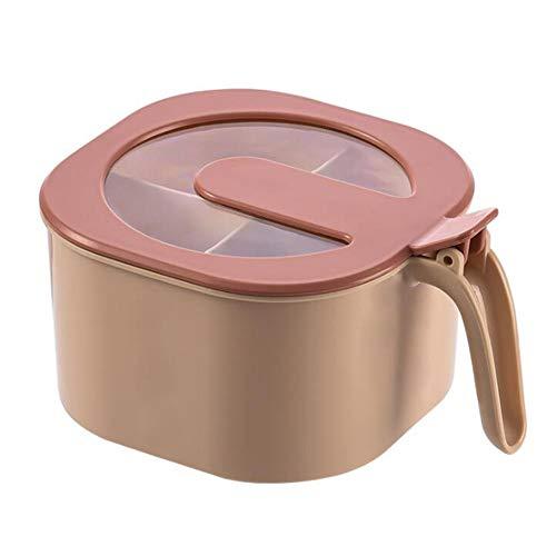 Caja de condimentos, con cuchara, cuatro compartimentos con tapa, sirve para contener varios condimentos: pimienta, azúcar, sal-2