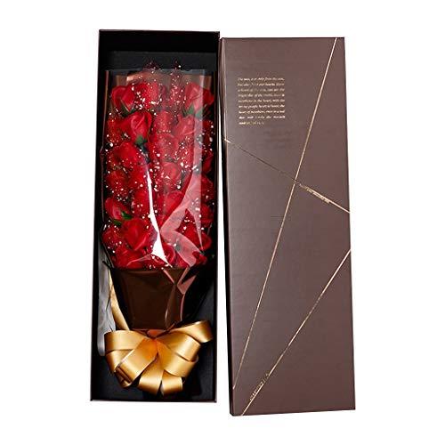Scatola regalo di stoccaggio dei monili del fiore della rosa di San Valentino 33Pcs/Box,Home Decor Rosso Taglia unica