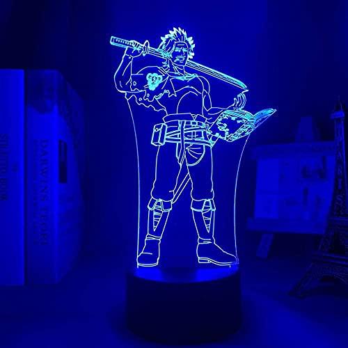 3D noche luz anime luz LED trébol negro Yami sukehio noche energía decoración manga regalo cumpleaños dormitorio LED dormitorio noche noche 3D control remoto