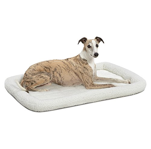 MidWest Homes for Pets Homes for Pets Quiet Time Fleece Bolster Pet Bed - Cream - 36 x 23 inch (40236)