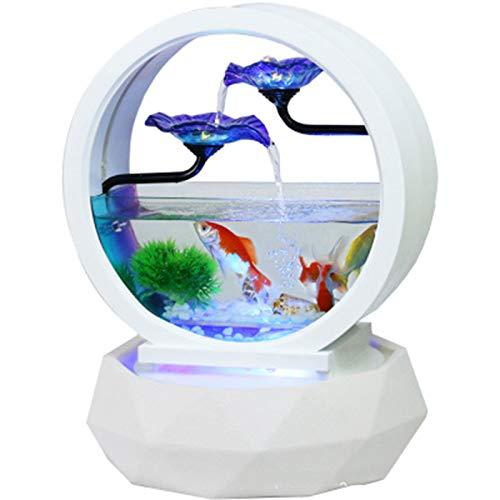 HUIJU Feng Shui Fountain Ceramic Water Desktop, Water Feature Zen Fountain Indoor Garden Water Fountain Garden Indoor Ornaments Lucky Water Fish Tank Gift Zen,35x45cm