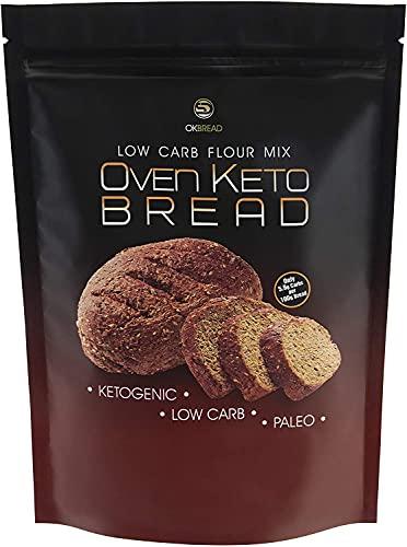 Oven Keto Bread Mix Farina Preparato per Pane Chetogenico Low Carb Proteico 200 g con Poche Calorie Impasto per Pane Dieta Chetogenica Paleo Atkins Diet (1 PACK)