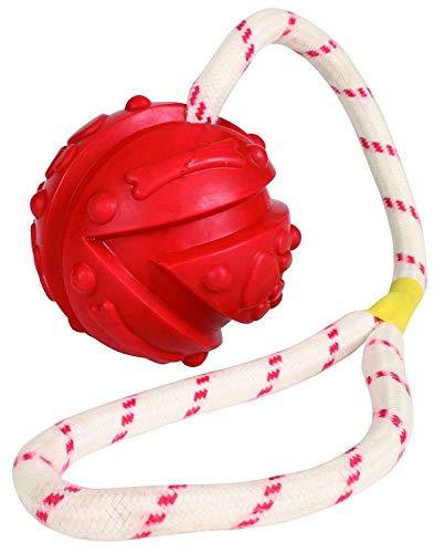 Trixie 33482 Ball am Seil, Naturgummi, schwimmt, ø 7/35 cm
