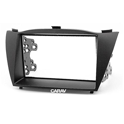 Carav 11-070 Adattatore Stereo Radio doppio Din per cruscotto con lettore DVD e attorniata Kit di montaggio per HYUNDAI iX 35, iX Tucson-Mascherina per autoradio con 173 x 98 e 178 mm x 102 mm