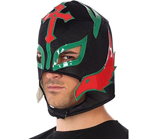 Atosa-34949 Máscara Luchador Enmascarado Mexicano, Color Negro (34949)