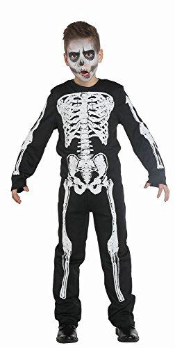 Kinderkostüm Skelett Boy Gr. 116 - 152 Gerippe Overall Kostüm Halloween Fasching Karneval 140