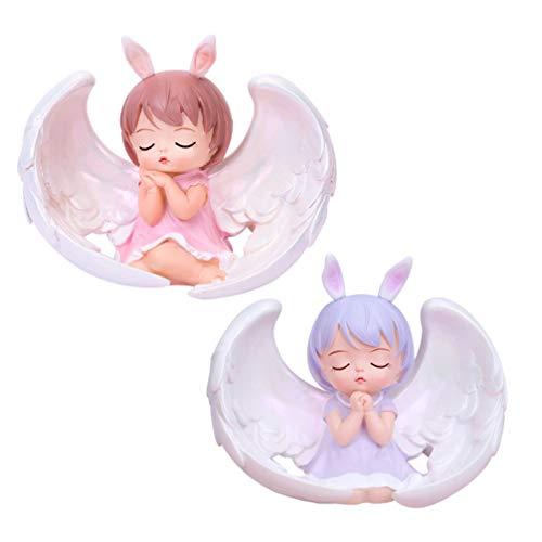 PRETYZOOM 2 Piezas Preciosos Momentos Bebé Niña Rezando Figuras de �ngel...