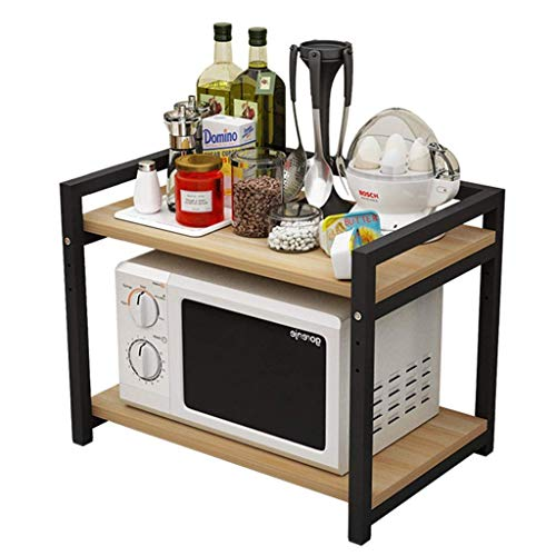 ZGQA-GQA Los estantes de la cocina estante de la cocina montado en la pared de la cocina de microondas Bastidores de elevación ajustable de almacenamiento de 2 capas rejilla del horno de doble capa (c