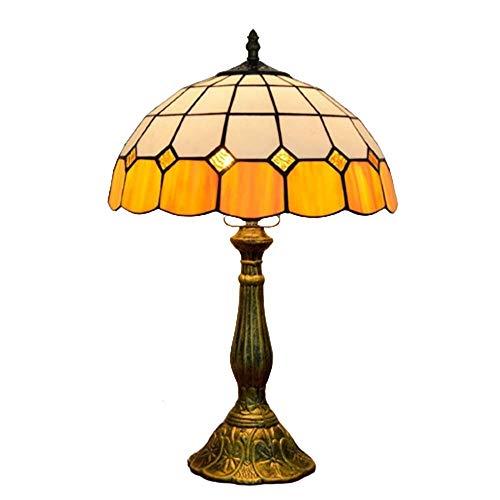 GDICONIC Lámpara de Mesa Luces de Mesa Creativa Simple mediterránea Naranja Dormitorio Bar Restaurante Restaurante Hotel Luces de Cristal 30 cm * 49cm lámpara