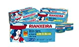 RIANXEIRA Pack de 16 latas x 65g. de Atún Claro con un toque de Aceite de Oliva Virgen Extra Ecológico y Flor de Sal. Certificación de pesca sostenible MSC.