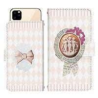 iPhone 12 mini スライド式 手帳型 スマホケース スマホカバー dslide018(A) ブローチ リボン チェック柄 格子柄 アイフォントゥエルブミニ アイフォン12ミニ iphone12mini スマートフォン スマートホン 携帯 ケース アイフォントゥエルブミニ アイフォン12ミニ iphone12mini 手帳 ダイアリー フリップ スマフォ カバー