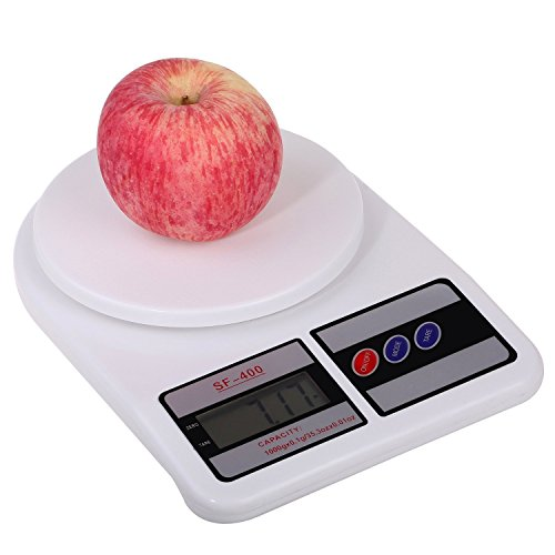 Ketsaal Digital Electronic 10 Kg Weight Scale Machine Lcd Kitchen Weight Scale For Measuring Fruits, Spice, Food, Vegetable,White