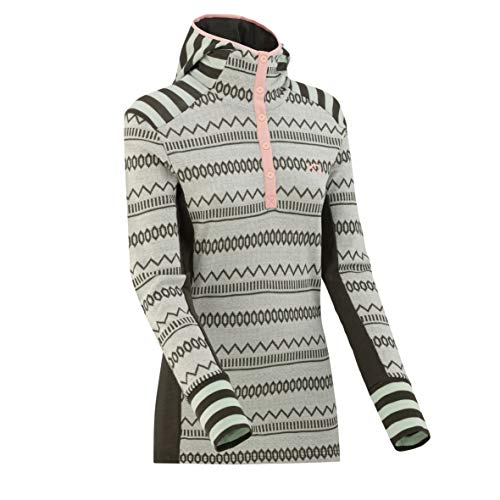 Kari Traa Women's Akle Hood Base Layer Top - Long Sleeve 100% Merino Wool Thermal Shirt Woods M