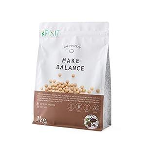 FIXIT プロテイン ソイプロテイン MAKE BALANCE 1kg 【ココア】たんぱく質含有量80%以上 6種のビタミン、3種のミネラル、食物繊維、乳酸菌配合
