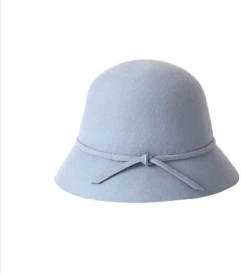 SUN Elegante Cloche Filz Eimer H/üte Fr/ühling Und Herbst Winter Europa Und Amerika Einfach Gekn/üpfte Kuppel Fischer Hut Farbe : Pink
