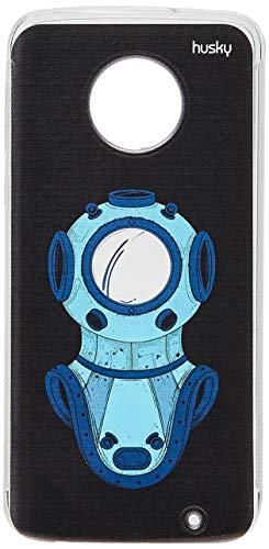 Capa Personalizada para Moto G6 Plus - Mergulhador Linha, Husky, Proteção Completa (Carcaça+Tela), Colorido