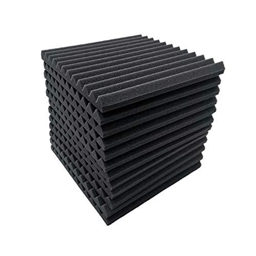 12 Piezas Paneles de Espuma Acústica Espuma Acústica Paneles Acusticos de para KTV Estudio Transmisión en vivo Oficinas Paneles Acusticos Insonorizacion acustica pared 30x30x2.5cm