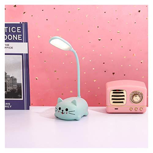 Lámpara de mesa Lámpara de escritorio para niños LED Lámpara de mesa de mesita de noche Flexo Balance Lámpara de cisne de dibujo de cuello de cisne para el estudio de la decoración de Badroom lindo De