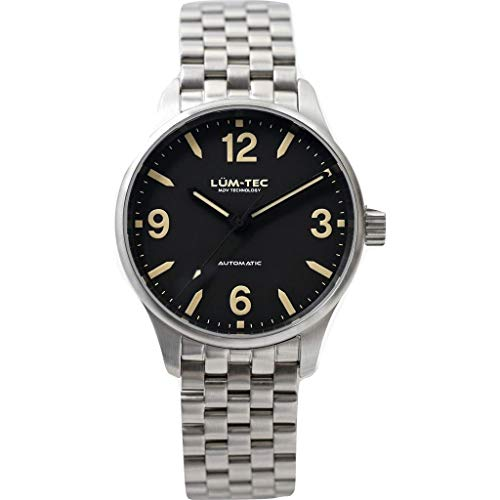 Lum-Tec C5 Automatic Wrist Watch | Matte Steel Wrist Watch Band