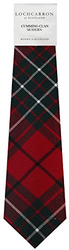 I Luv Ltd Gents Neck Tie Cumming Modern Tartan Lightweight Scottish Clan Tie
