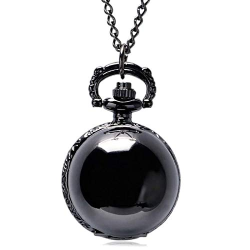 KKDS Classic Retro Snitch Ball Shaped Potter Quartz Pocket Watch Fashion Sweater Angel Wings Necklace Chain Gifts for Men Women kids for Birthday Father's Day (Color : F)