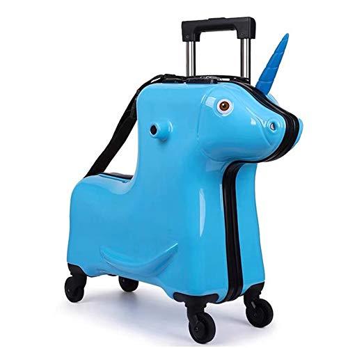 Koffer XYDBB Paard Kinderen Rollende Kinderen Trolleytas Zitkoffer Op Wielen 20