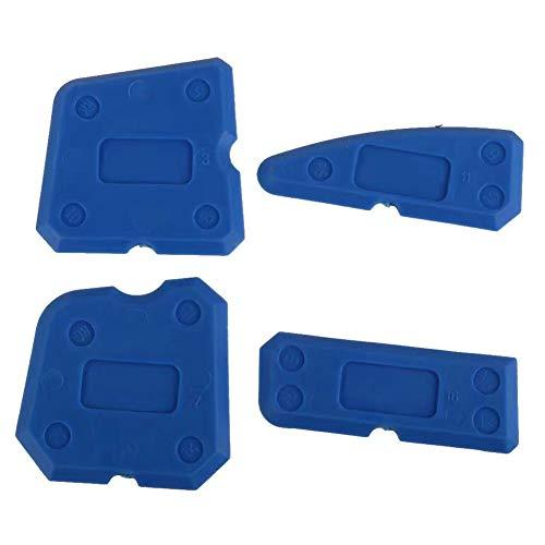 4 Stücke Fliesenfugen Fugenwerkzeug Silikon Dichtmittel Spachtel Glatte Kante Dichtmittel Entfernung Fugenwerkzeug für Badküchen etc.