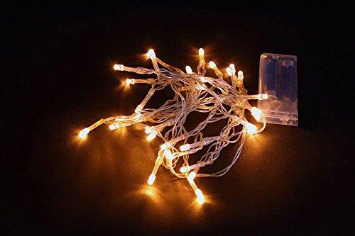 5er-Set LED-Lichterkette mit je 10 Leuchten, warmweiss, Batteriebetrieb
