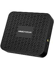 Minisforum Mini PC 8GB LPDDR4 256GB SSD Intel Celeron J4125 Prozessor Quad-Core(bis zu 2,7GHz) Windows 10 Pro 4 x USB 3.0 Ports 2 x Gigabit Ethernet Digital Mic 4K HDMI 2.0/DP Dual Band Wi-Fi BT 5.0