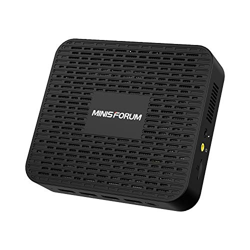 MINIS FORUM Mini PC 8GB LPDDR4 256GB SSD Intel Celeron J4125 Processore Quad Core (fino a 2,7GHz) Windows 10 4x porte USB 3.0 2x Gigabit Ethernet Digital Mic 4K HDMI 2.0/DP Port Dual Band Wi-Fi BT 5.0