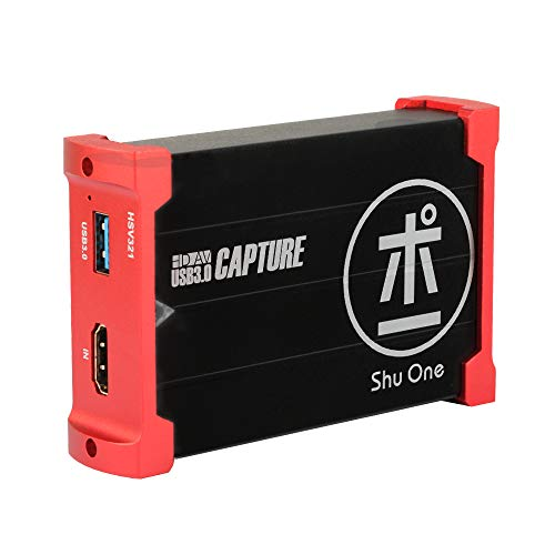 ShuOne Capture Card, USB 3.0 Game Capture Card Video Capture Karte 1080P 60FPS mit HDMI Loopout, Live-Streaming für PS4 Switch Xbox auf OBS Twitch YouTube,Support Windows, Linux, Os X System