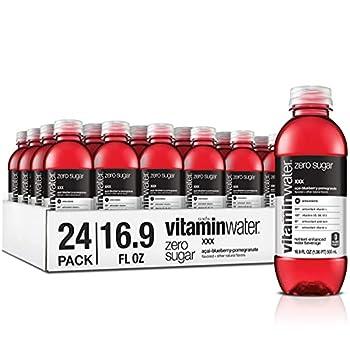 vitaminwater zero xxx electrolyte enhanced water w/ vitamins açai-blueberry-pomegranate drinks 16.9 Fl Oz  Pack of 24