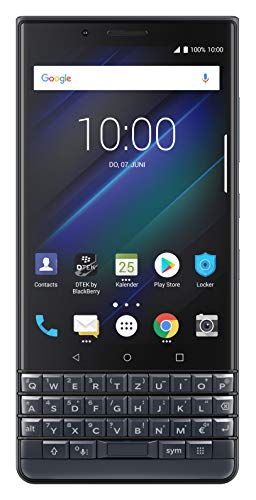 BlackBerry KEY2 LE Business Smartphone, 64 + 4 GB, Dual-SIM Space Blau