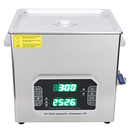 Limpiador ultrasónico ultrasónico, temporizador digital 240W 33 / 40kHz 10L hecho de acero inoxidable por un período de tiempo.