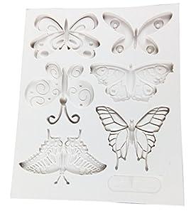 Vivin formado mariposa del molde del silicón de la estera por Decoración de Pasteles, magdalenas, Sugarcraft y Caramelos