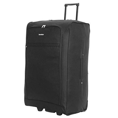 Karabar Alvik Gran maleta plegable de 73 cm, Negro