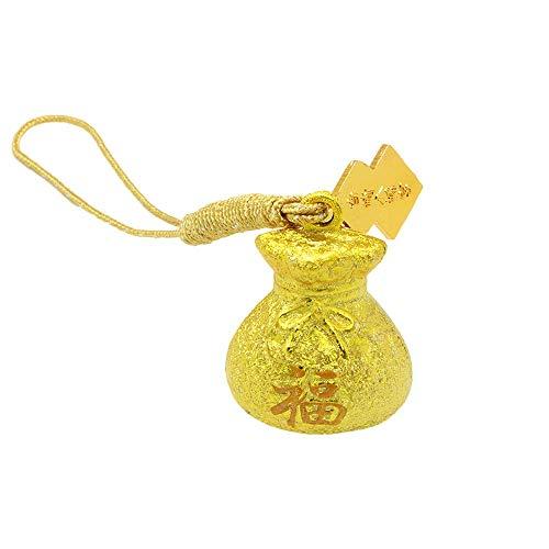 金運を呼び寄せる 黄金巾着水琴鈴のお守り 神社で祈願済み 金運隆昌