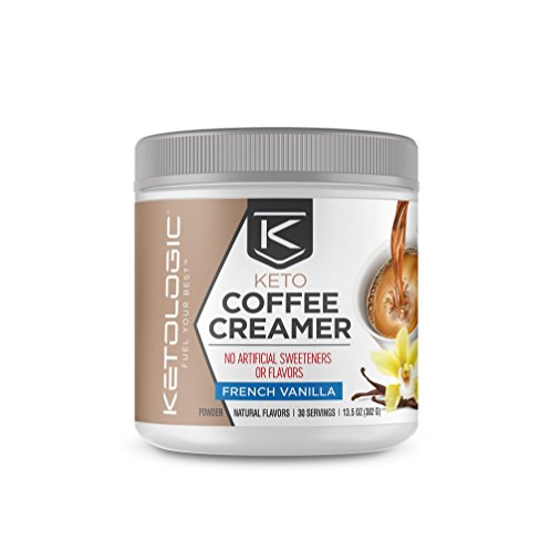 Ketologic Keto Coffee Creamer with MCT Oil Powder, French Vanilla | for Sustained Energy & Appetite Control | Low-Carb, Paleo Friendly & Keto Approved | 30 Servings