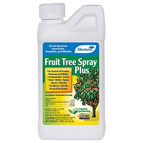 Monterey LG 6184 Fruit Tree Plus for Control of Insects, Diseases & Mites Conc 1pt,White Bottle