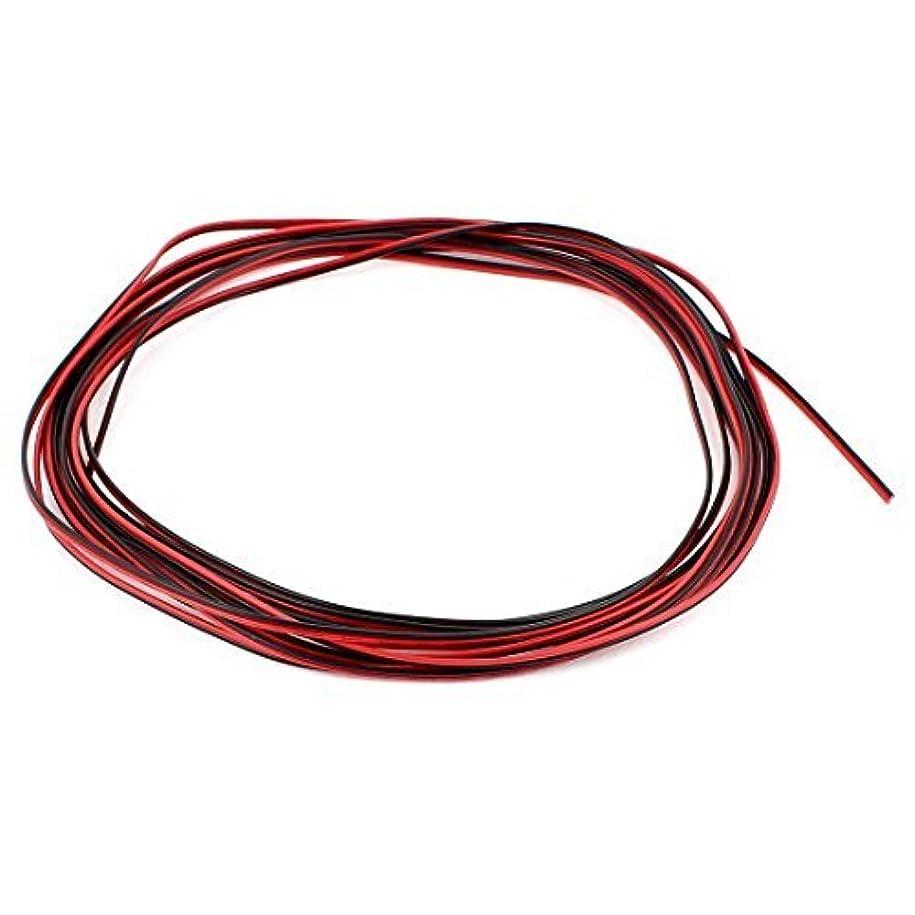 ブリード帽子貫入eDealMax 16.4フィート 28AWG 0.1mm2 Rosso Nero デュアルコアワイヤー altoparlante dell'automobile LED